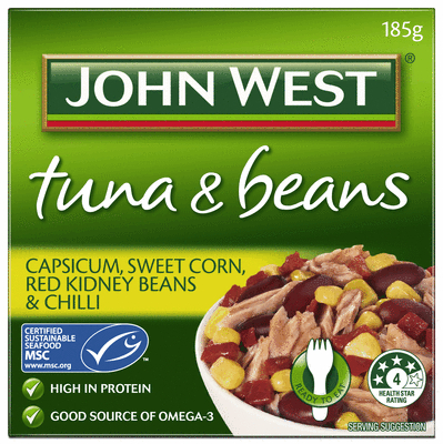 Capsicum Sweet Corn Red Kidney Beans and Chilli 185g
