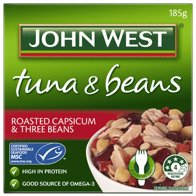 Roasted Capsicum and Three Beans 185g