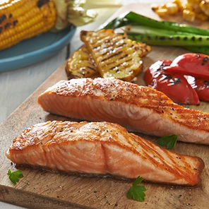 Bbq Salmon With Charred Vegetables