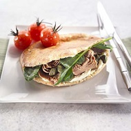 Grilled Tuna  Tomato Flat Breads