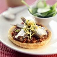 Sardines On Muffins With Gremolata