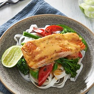 Trout With Asian Stirfry Vegetables