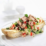 Tuna  Tabouli Couscous On Turkish Bread