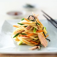 Warm Japanese Noodle Salad